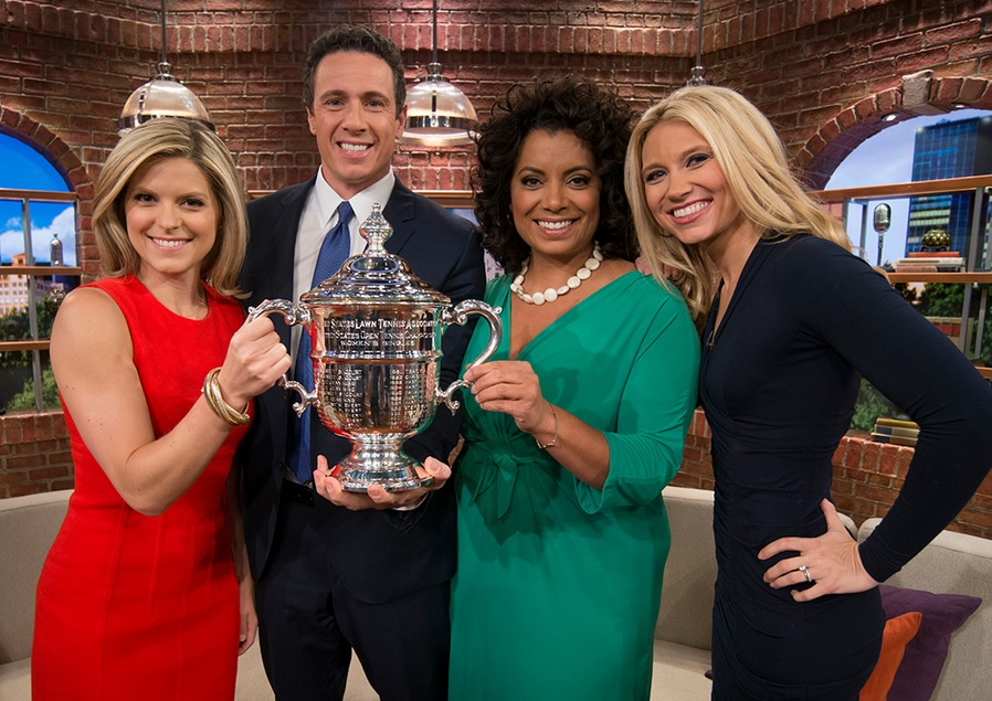 """New Day"" Anchors Get Ahold of US Open Tennis Championship Trophy"