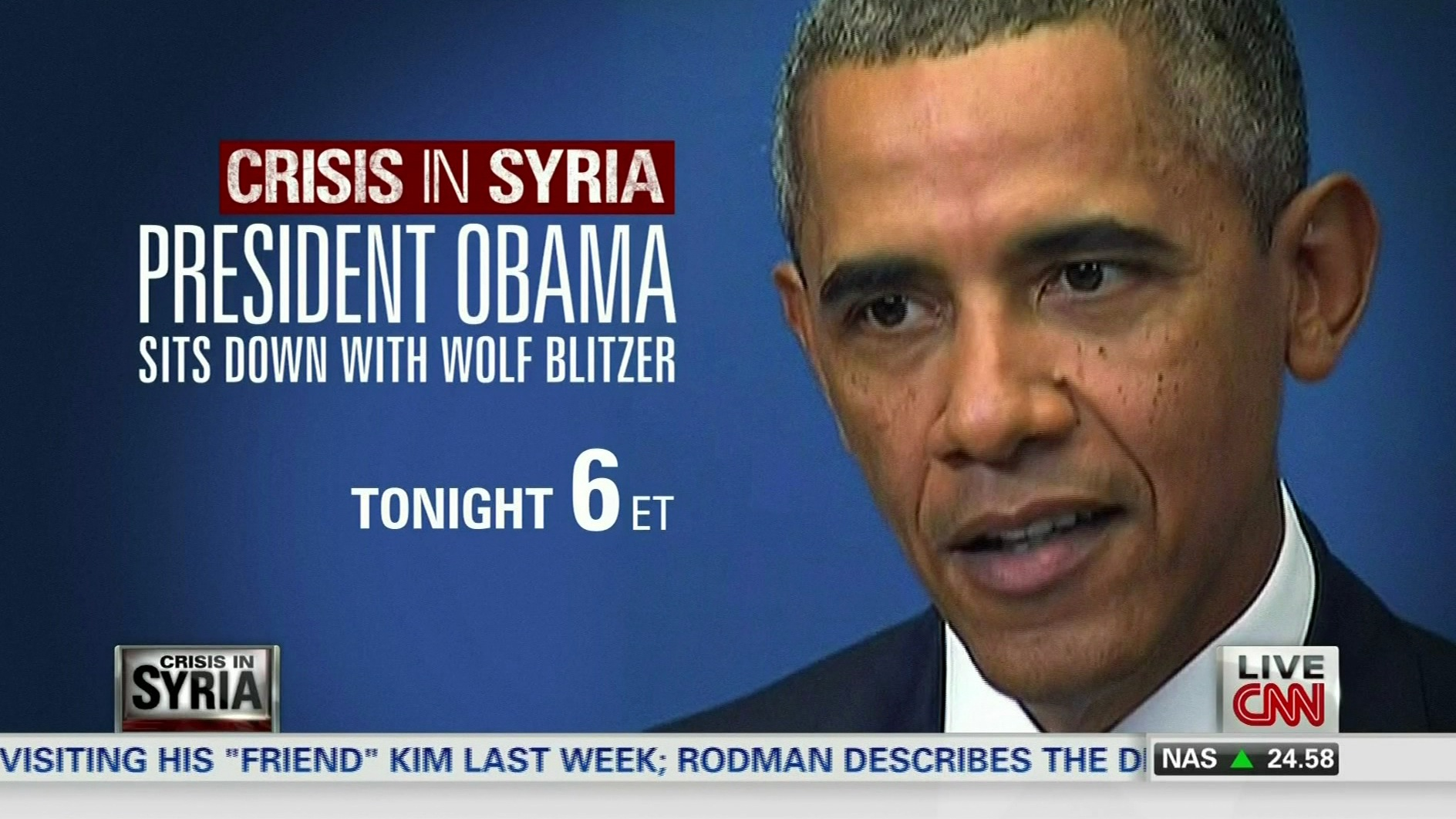 CNN's Wolf Blitzer to sit down with Pres. Obama on Monday, Sept. 9