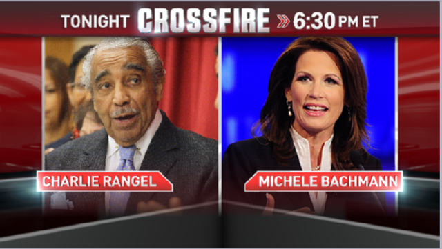 Reps. Bachmann and Rangel join CROSSFIRE Thursday at 6:30 p.m. ET