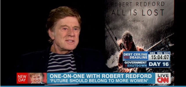 "Robert Redford on Washington Gridlock: ""There is a body of Congressional people that want to paralyze the system"""