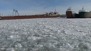 Breaking the ice on Lake Michigan