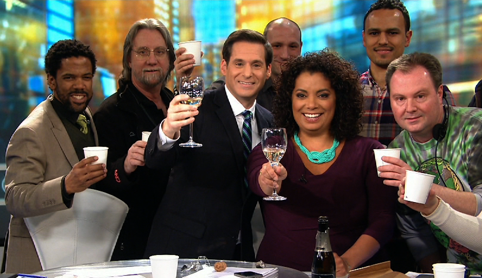 Cheers to Our New @THIS HOUR Studio!