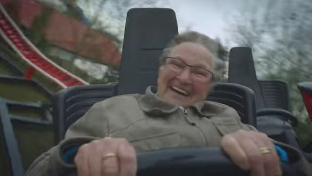 See How Grandma Responds to Her First Roller Coaster Ride