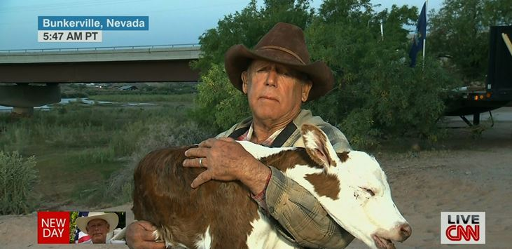 "Rancher Holds Up Dead Calf on ""New Day"""