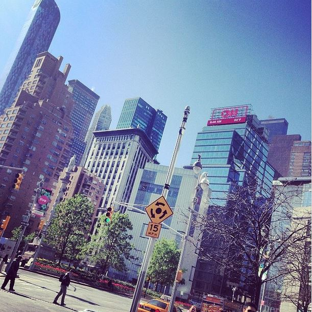 Photo of the Day: See CNN's Red Letters Over Columbus Circle in New York