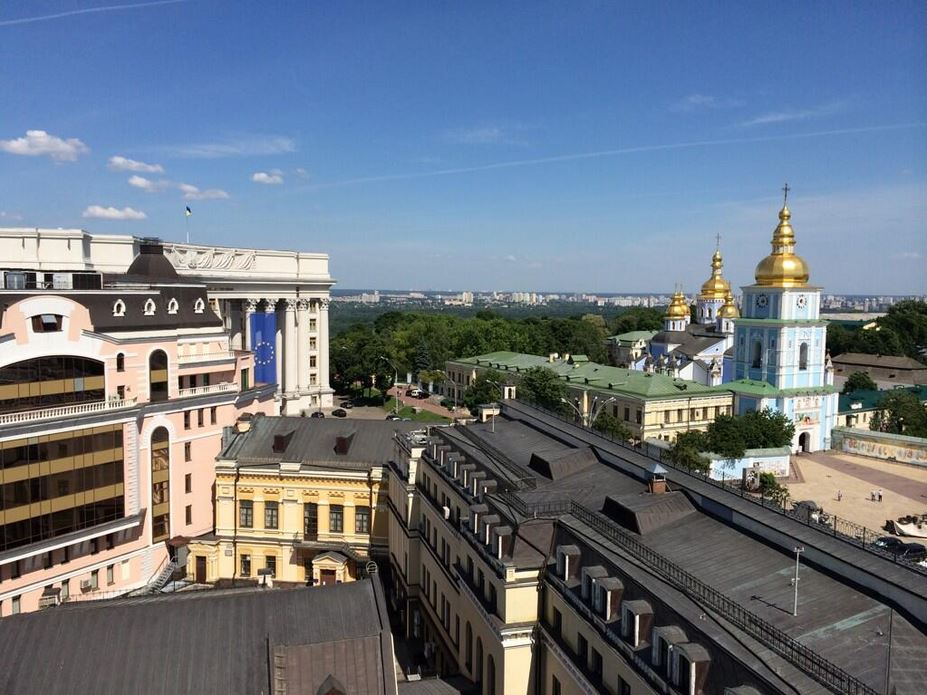 Photo of the Day: Reporter Offers View of Kiev Skyline