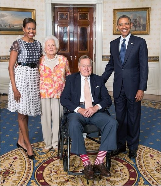 Photo of the Day: Happy 90th Birthday, President George H. W. Bush!