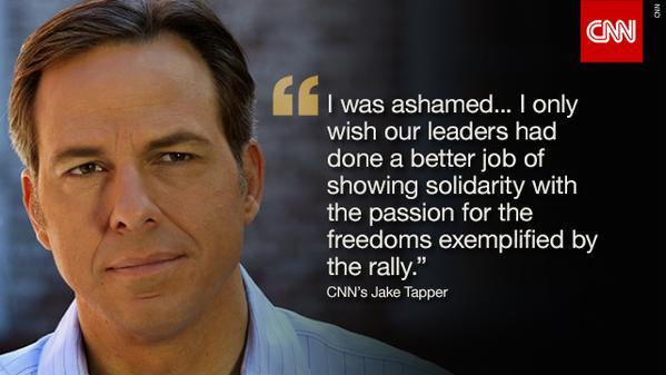 Jake Tapper: I'm ashamed by U.S. leaders' absence in Paris