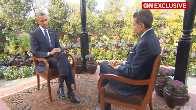 President Obama interviewed by CNN's Fareed Zakaria in India for CNN's New Day