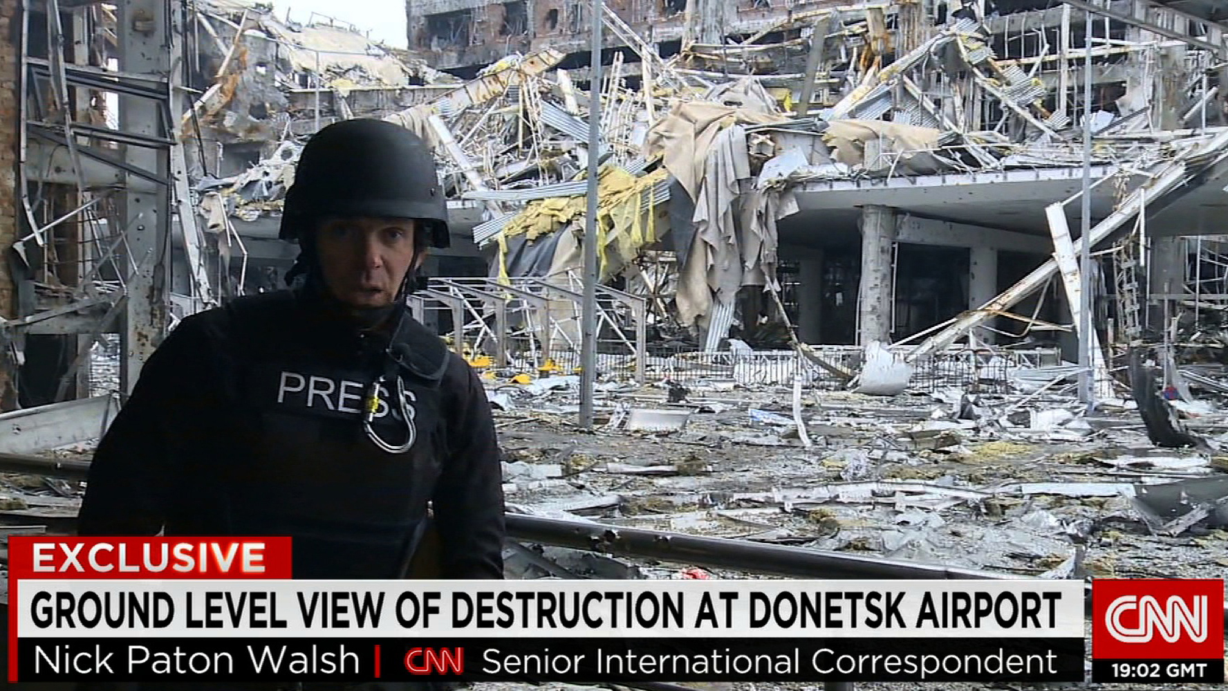 CNN's Nick Paton Walsh gets firsthand look at devastated Donetsk airport