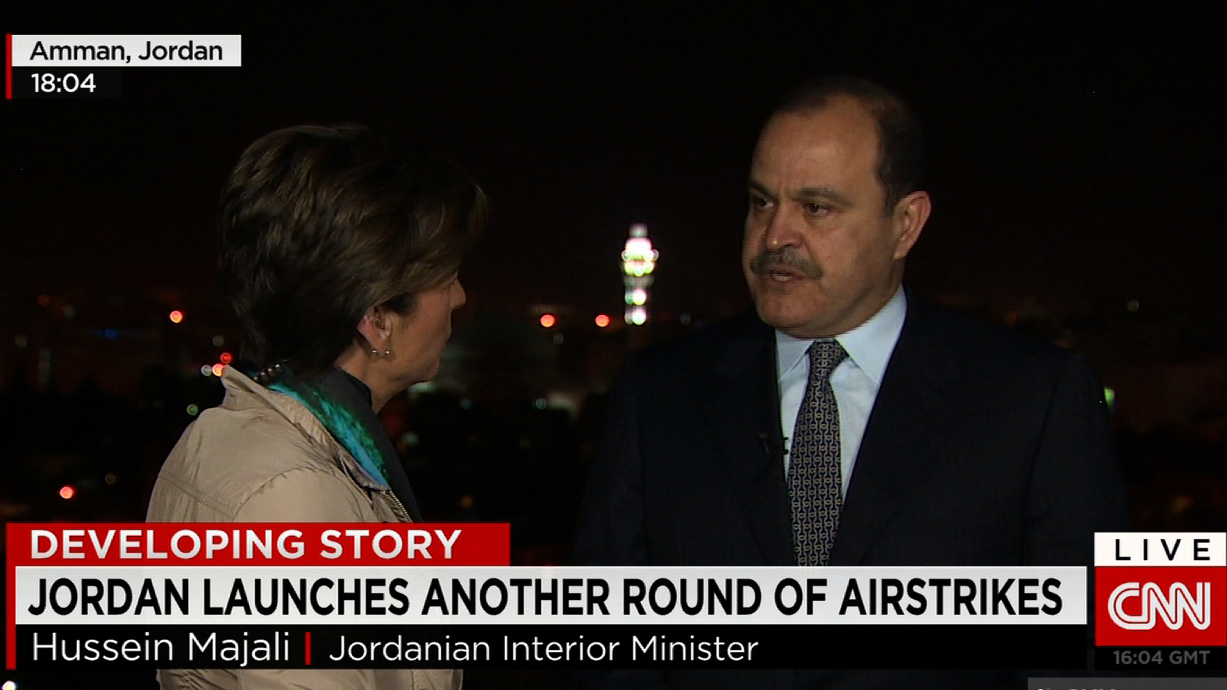 "Jordanian Interior Minister to CNN's Becky Anderson: ""This is our war – not the West's war."""