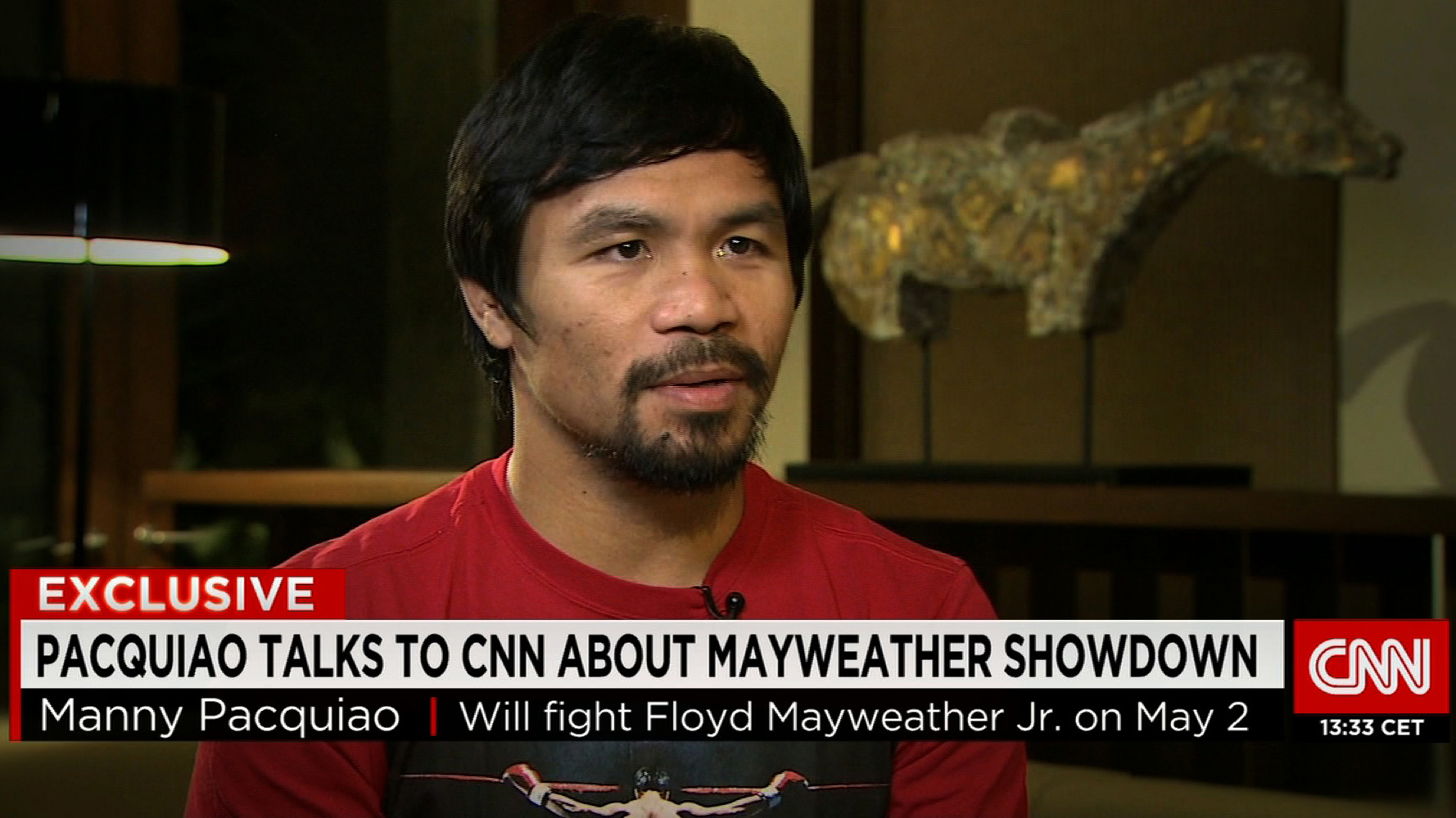 CNN Exclusive: Manny Pacquiao on Floyd Mayweather Jr. showdown