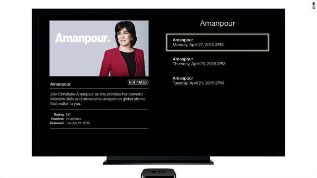 CNNI Show 'Amanpour.' Now Available through CNNgo on Apple TV