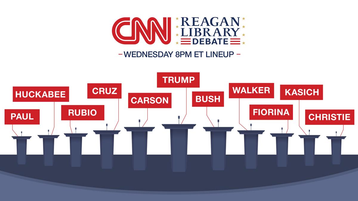 CNN GOP Debate Lineup Revealed