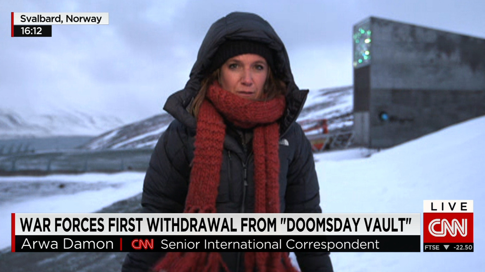 CNN's Arwa Damon reports from 'Doomsday' seed vault in Arctic as Syrian civil war forces early withdrawal