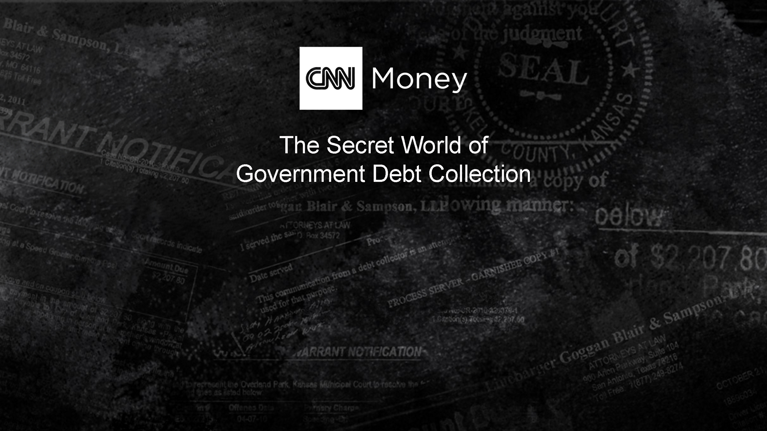 CNNMoney Exclusive Investigation: The secret world of government debt collection