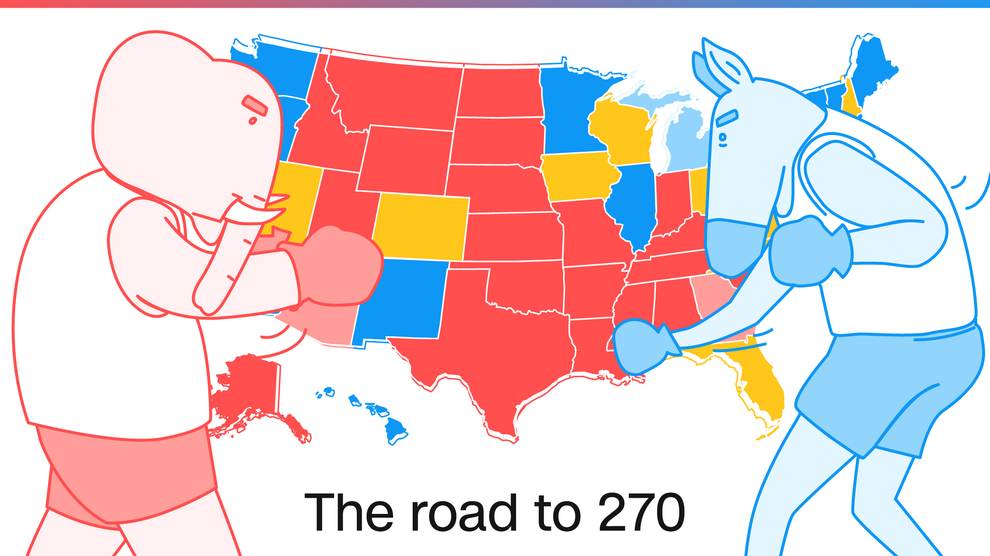Road to 270 CNNs general election map CNNPolitics