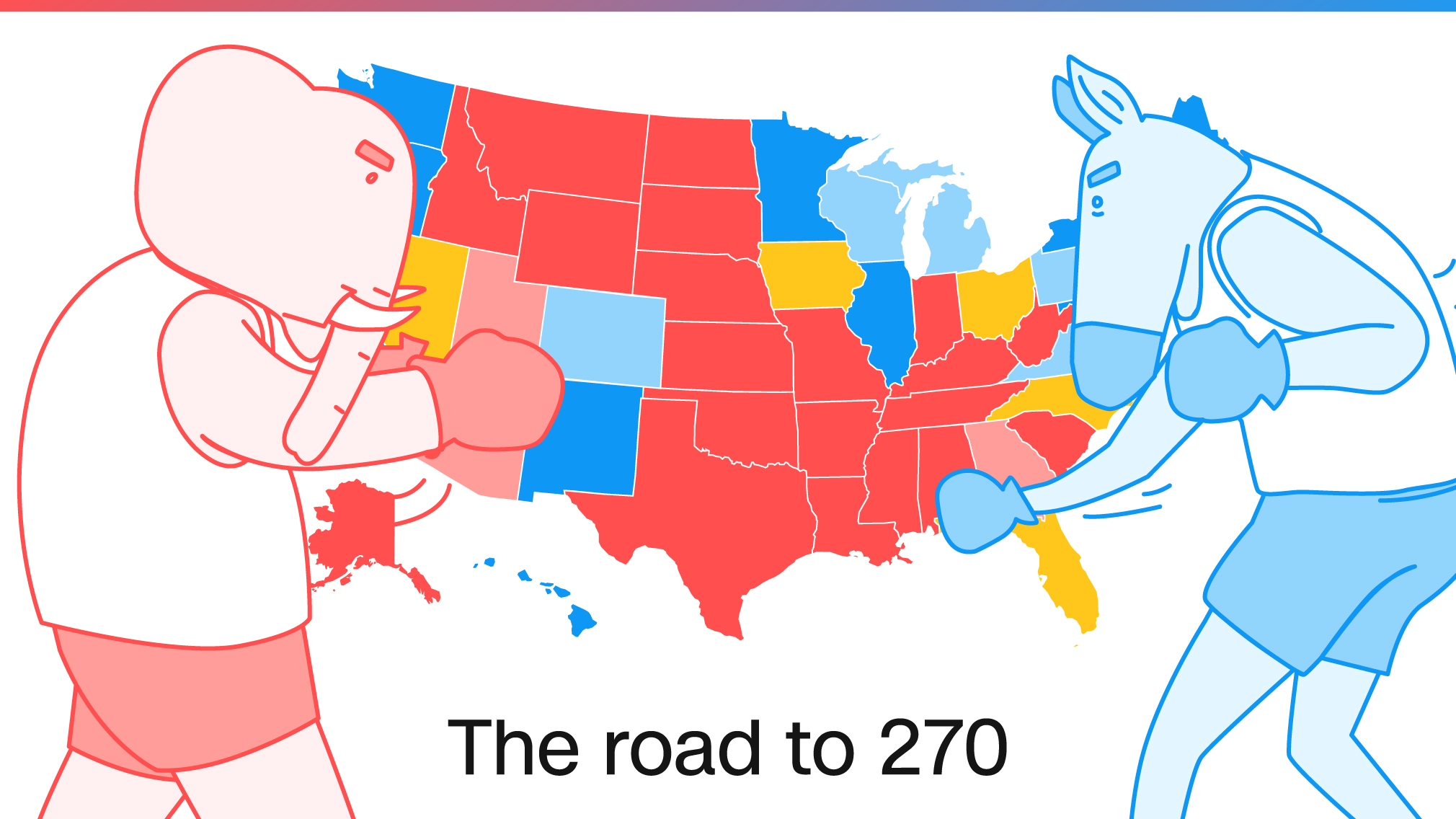 US Election Tight Races Remain In Three Battlegrounds CNNPolitics - Us map electoral to color