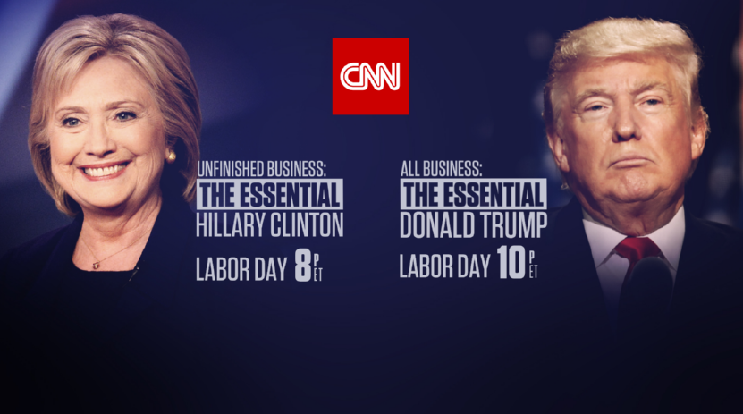Clinton, Trump Docs Rank #1 in Cable News on Labor Day at 8pm and 10 pm
