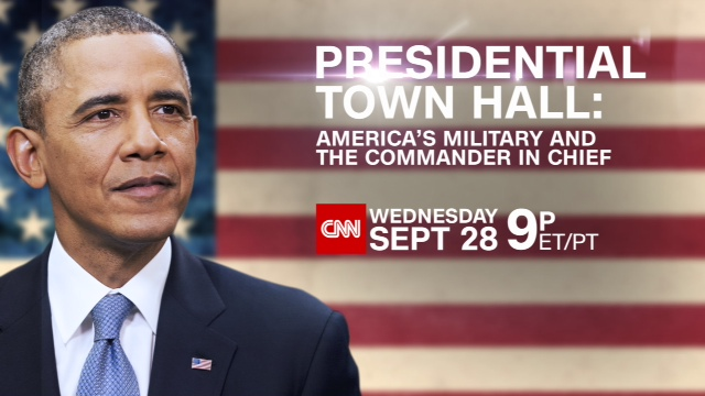 CNN'S JAKE TAPPER TO HOST TOWN HALL WITH PRESIDENT OBAMA SEPT. 28