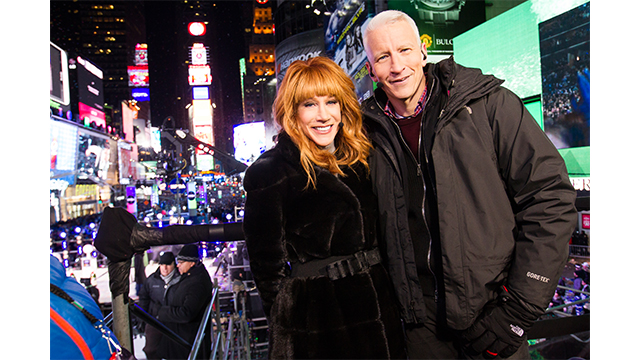 ANDERSON COOPER AND KATHY GRIFFIN RETURN TO CO-HOST CNN'S NEW YEAR'S EVE