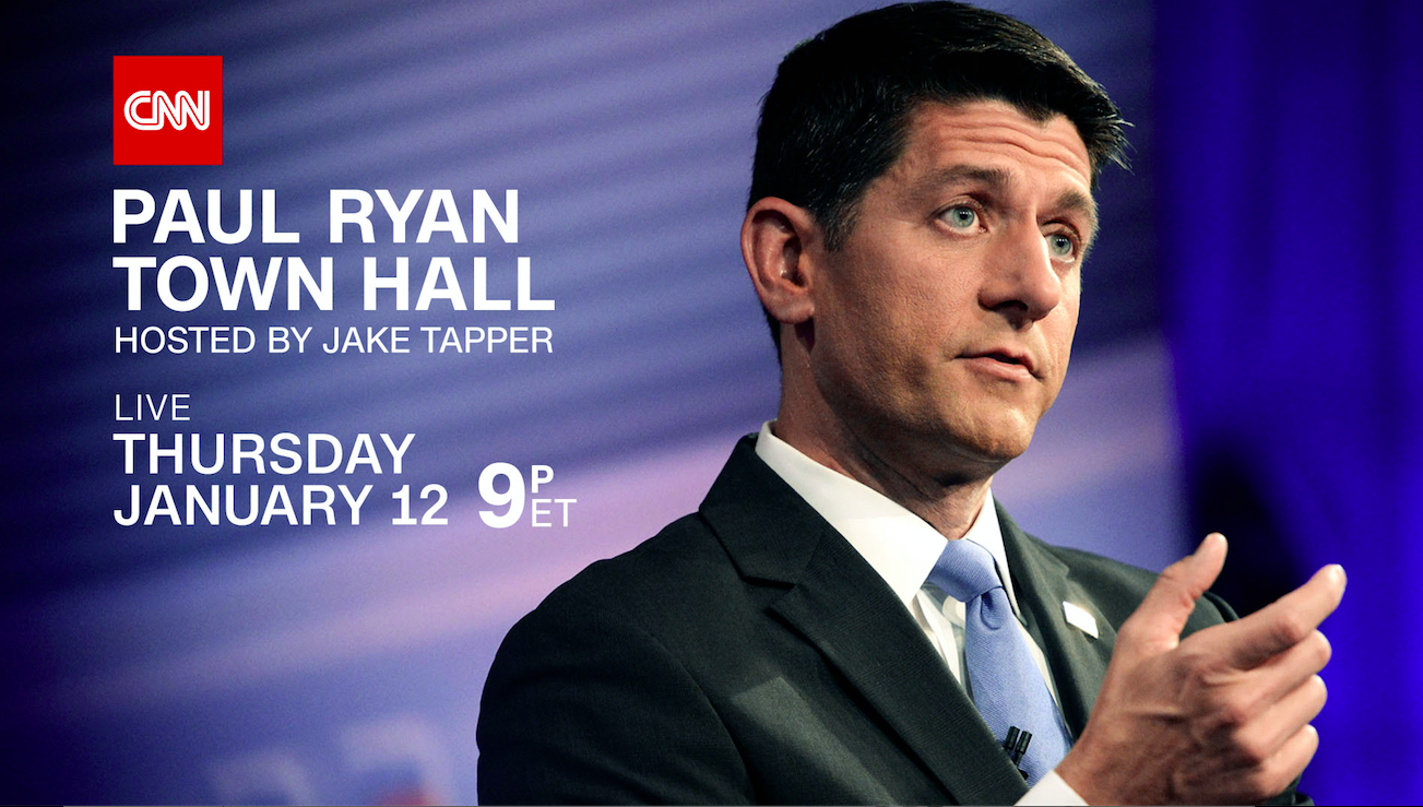 CNN TO HOST TOWN HALL WITH HOUSE SPEAKER PAUL RYAN