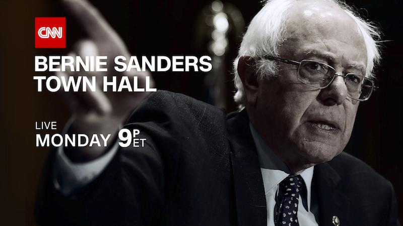 CNN TO HOST TOWN HALL WITH SENATOR BERNIE SANDERS
