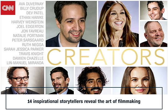 """CNN Debuts an Oscar Video Project """"Creators"""""""