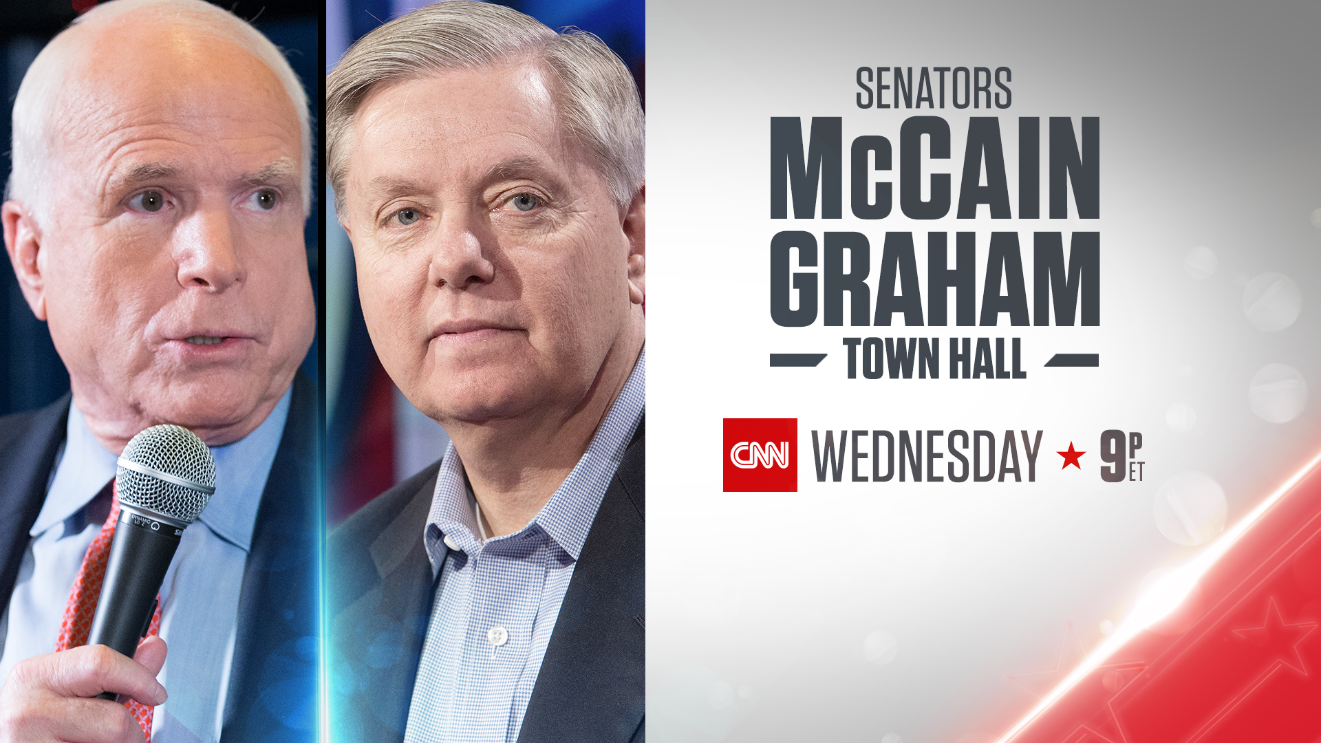 CNN to Host Town Hall with Sen. Graham and Sen. McCain on March 1
