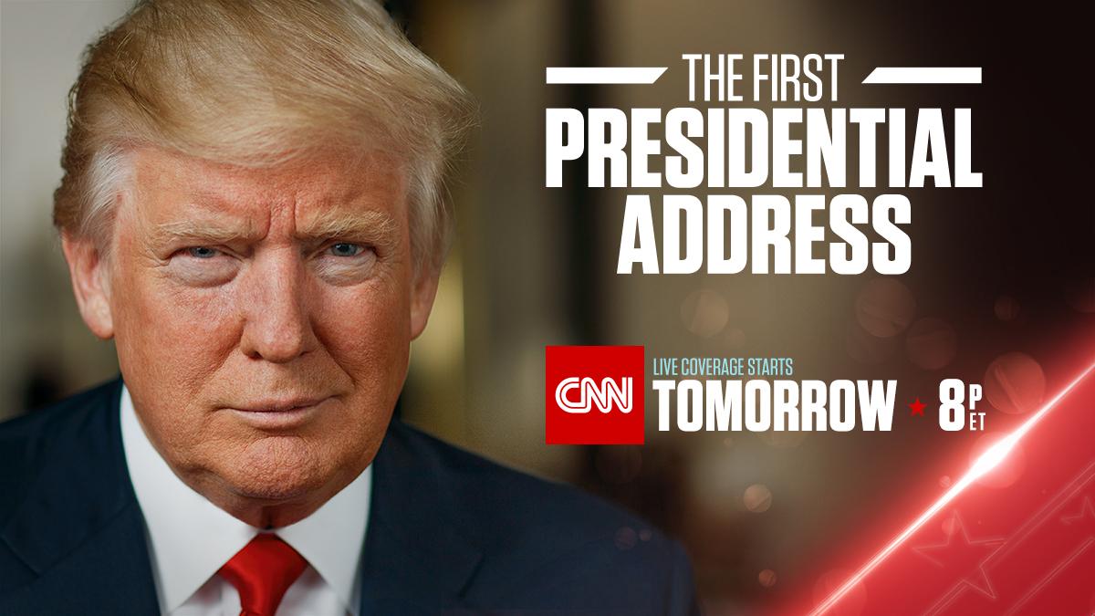 CNN to Live Stream President Trump's Address to Congress