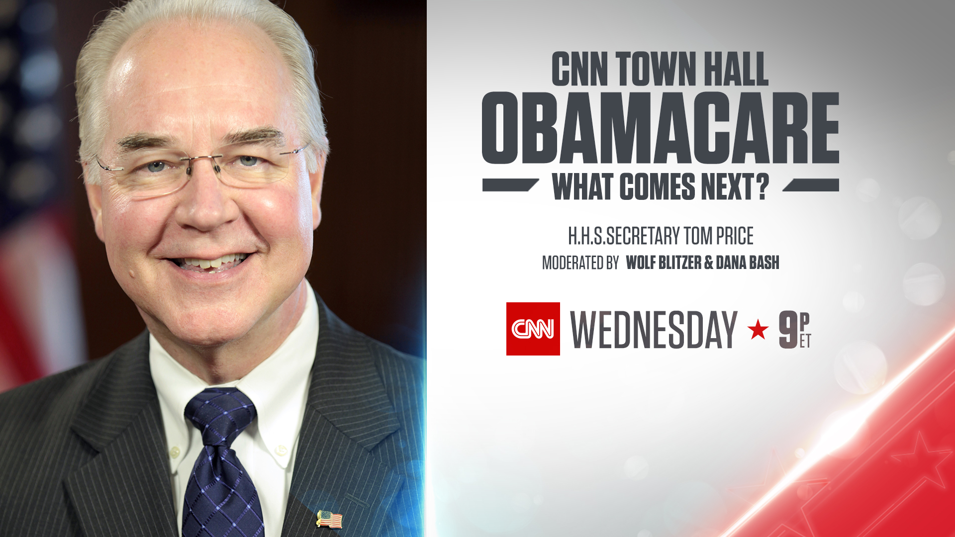 CNN to Host Town Hall with HHS Secretary Tom Price on March 15