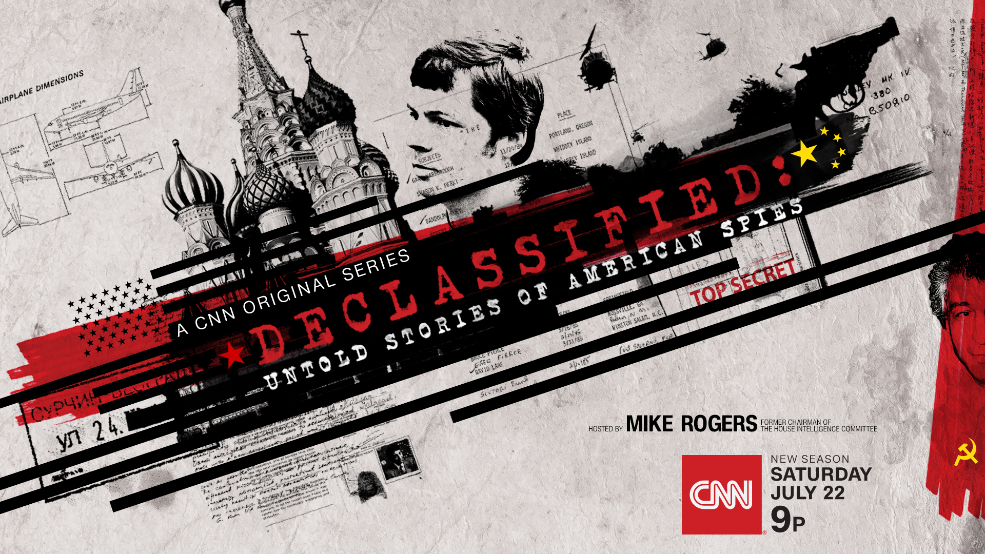 "Season Two of CNN Original Series ""Declassified: Untold Stories of American Spies"" Premieres Saturday, July 22"