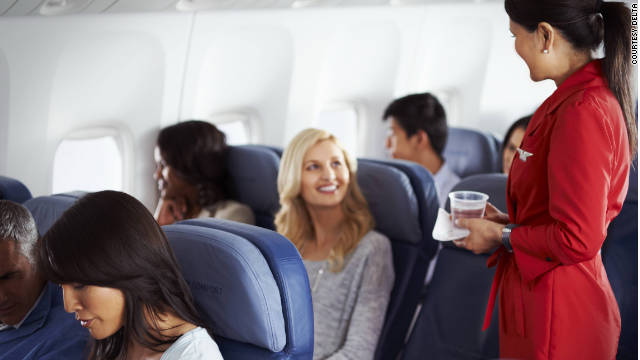 Delta's Economy Comfort class has priority boarding, 50 percent more recline, four extra inches of legroom, adjustable headrests and free drinks.