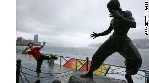 Hong Kong\'s statue of Bruce Lee is a tourist favorite.