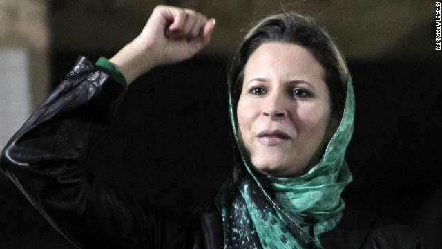 Aisha, daughter of Moammar Gadhafi, is pressing U.N. war-crimes prosecutors to investigate the October death of her father.