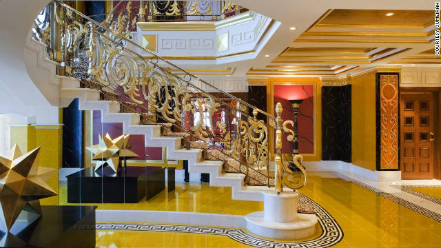 All of the Burj Al Arab suites are arranged over two floors and have whirlpool baths, living and dining areas and dedicated butlers.