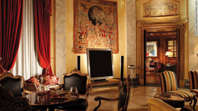 One of the largest in Europe, the Villa La Cupola suite in Rome's Westin Excelsior is inspired by ancient Rome, with extensive use of marble, stained glass and frescoes.
