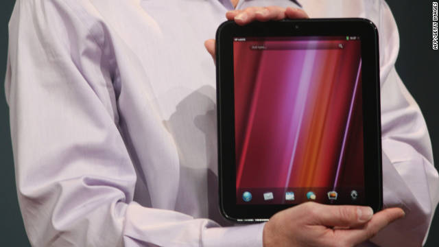 Jon Rubinstein, senior VP and general manager of HP, introduces the HP TouchPad, on February 9.