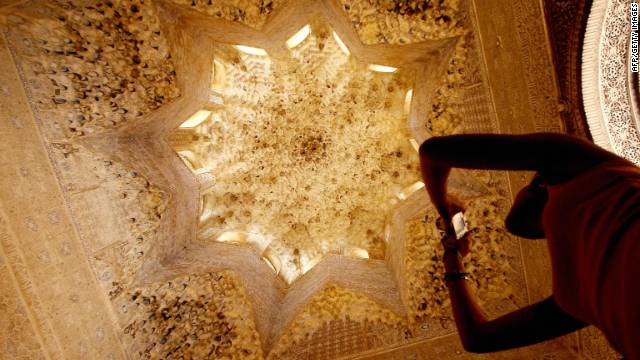 A gold ceiling in the Alhambra