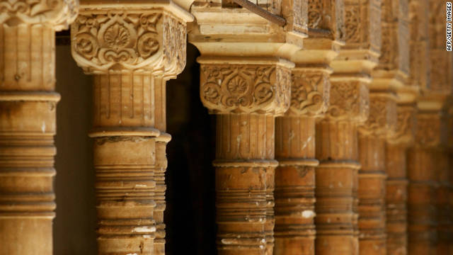 Impressive craftsmanship attracts visitors in their droves, but the Alhambra's architectural features -- such as these arches -- are delicate and visitor numbers have to be controlled.