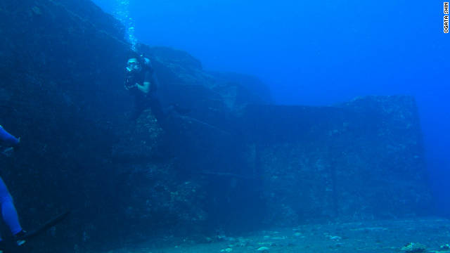 The mysterious underwater ruins of Yonaguni, Japan are estimated to be between 5,000 and 8,000 years old.