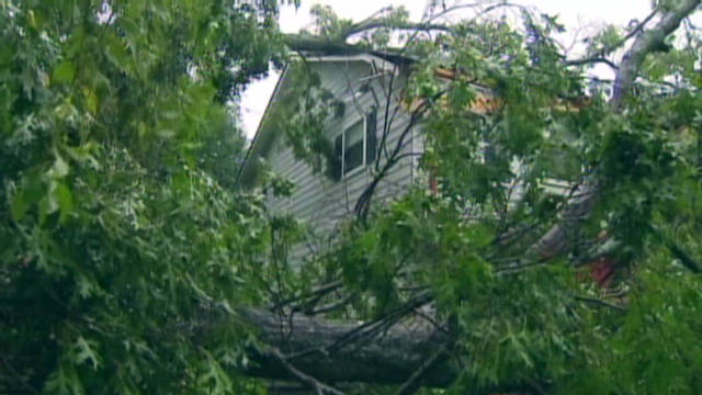 An estimated 81 tornadoes broke out over seven central states -- Oklahoma, Texas, Kansas, Nebraska, Missouri, Iowa and Illinois -- while major storm systems triggered hail and damaging winds to four Southern states -- Tennessee, Georgia, North and South Carolina. The storm system caused more than $1 billion in total losses and three deaths.