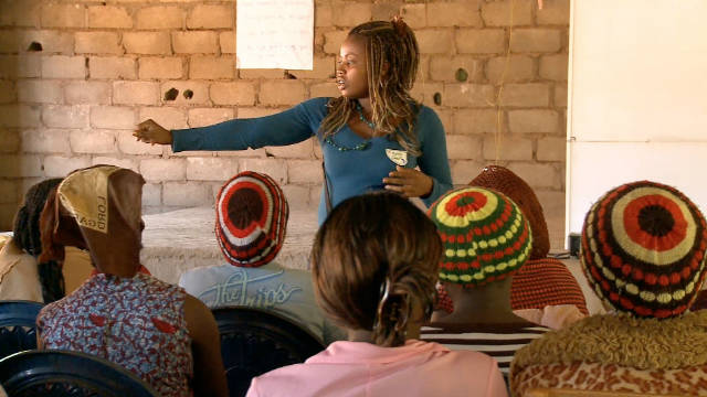 Teenage mothers in Cameroon learn about reproductive health