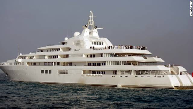 "The world's second-largest gigayacht, the ""Dubai"" is owned by Sheikh Mohammed bin Rashid Al Maktoum, ruler of the Emirate of Dubai and Prime Minister of the U.A.E."