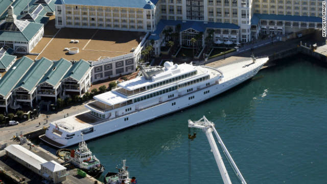 The 138-meter gigayacht Rising Sun is owned by Larry Ellison, CEO of Oracle Corporation.