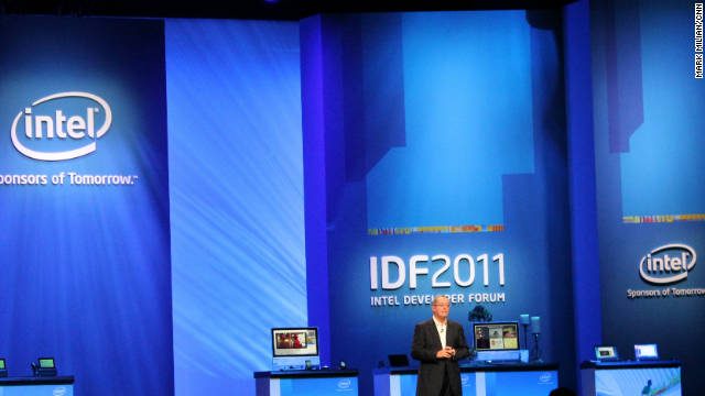 Intel CEO Paul Otellini announced a partnership with Google at Intel's developer conference.