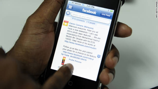 About one-third of Facebook's 750 million users access the site from mobile phones.