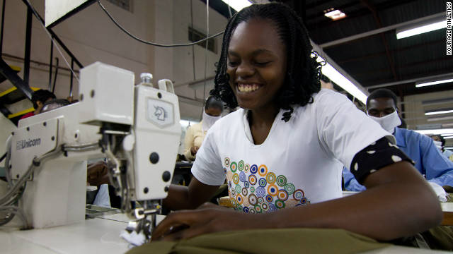 The clothes are produced by Viva Africa, a Kenyan-owned and operated factory, employing around 200 people, mostly women. 