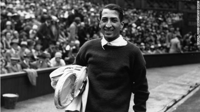 "Known as ""The Crocodile"" -- the logo on his shirt would become the symbol of his clothing label -- Lacoste also won the Wimbledon title in 1928, beating Cochet in the final."