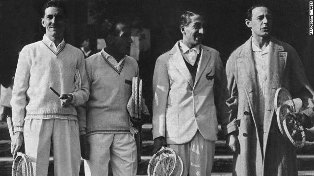 From left: Jacques Brugnon, Henri Cochet, Rene Lacoste and Jean Borotra won the Davis Cup six times between 1927 and 1932.